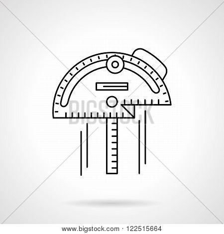 Inclinometer flat thin line vector icon
