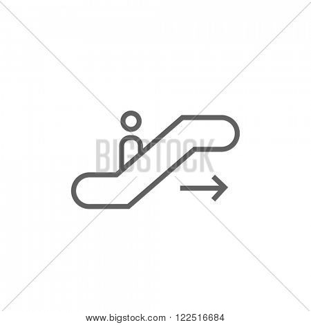 Gangway of plane line icon.