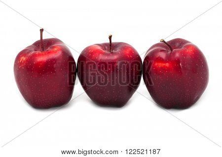 Three apples isolated