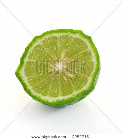 The Kaffir Lime Isolated On White Background