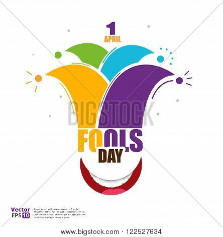 April fools day design vector illustration. april fool's day logo design.
