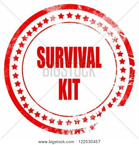 Survival kit sign with some soft flowing lines