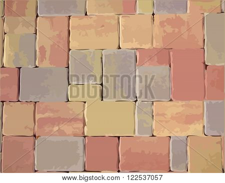 Pavement color slabs vector texture or background