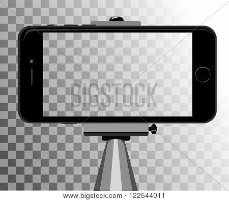 stick for selfie. Monopod Selfie shots cartoon vector illustration.Young couple making self portrait. Selfie stick concept vector illustration selfie