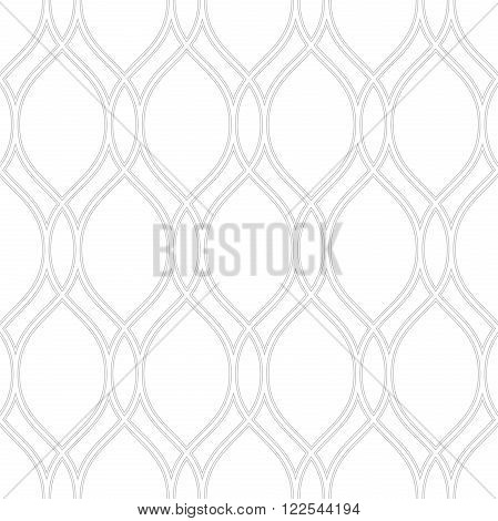 Seamless vector ornament. Modern geometric pattern with repeating wavy gray lines