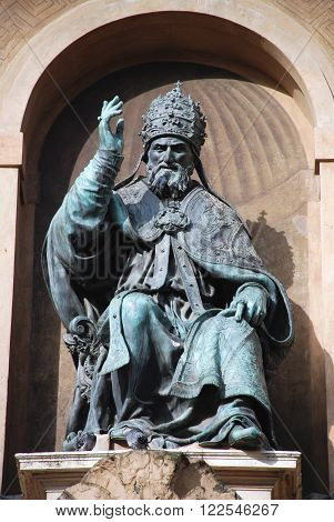 Bologna landmark Pope Gregory XIII statue Italy