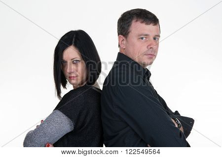 Couple Woman And Man, Back To Back, Very Sad, Divorce