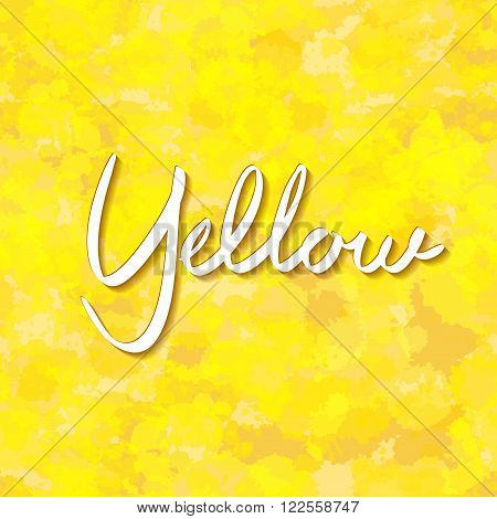 Abstract Gold Background Yellow Color, Light Corner Spotlight, Faint Orange Vintage Grunge Backgroun