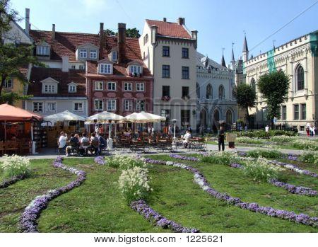 Main Square In Riga (Latvia)
