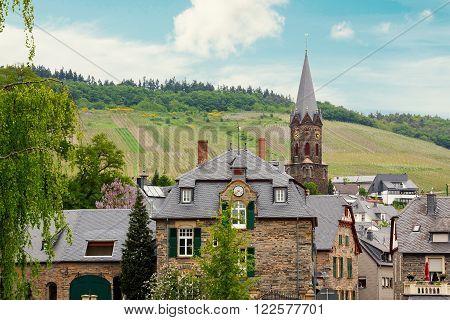 Idyllic Village Lieser Beside Moselle River