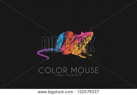 Mouse logo. Color mouse. Little mouse. Creative logo design.