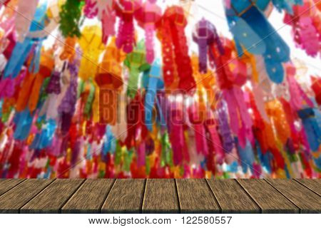Colorful Paper Lantern Decoration For Yeepeng Festival