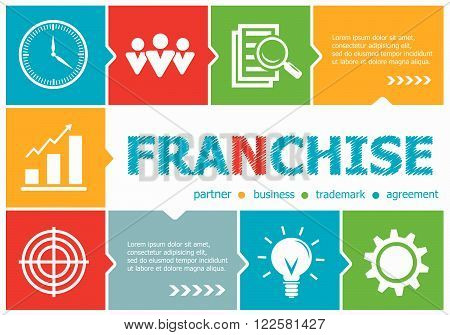 Franchise Design Illustration Concepts For Business, Consulting, Management, Career.