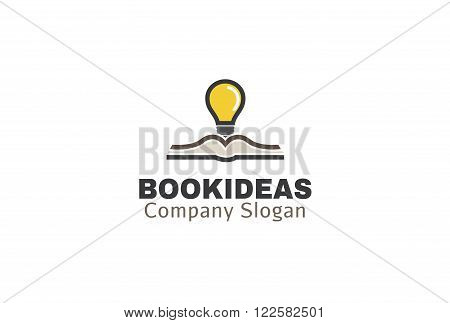 Book Ideas Creative And Symbolic Logo Design Illustration