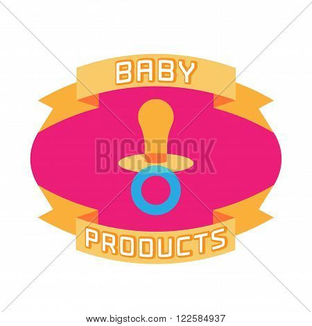 Vector cute baby logotype. Baby and kid store logo template design element. Baby products retail concept vissual