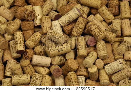 Paris France - mach 1 2010 : close up of french wine cork