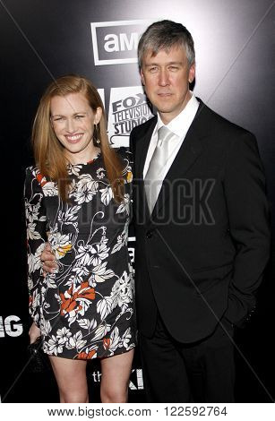 Alan Ruck and Mireille Enos at the Los Angeles Season 2 premiere of AMC's 'The Killing' held at the ArcLight Cinemas in Hollywood, USA on March 26, 2012.