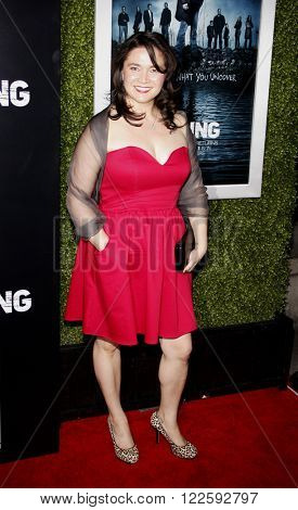 Patti Kim at the Los Angeles Season 2 premiere of AMC's 'The Killing' held at the ArcLight Cinemas in Hollywood, USA on March 26, 2012.