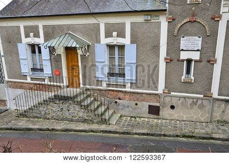 Montfort L Amaury France - january 2 2016 : the house of Maurice Ravel. He lived here from 1921 to 1937