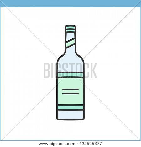 Bottle of wine icon. Procurement, storage tasting wine icon. Linear style