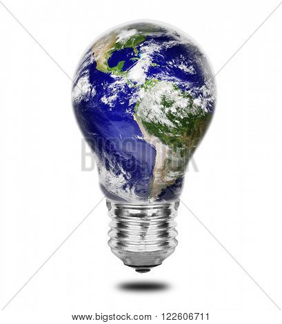 One lamp with shape of earth.Elements of this image furnished by NASA