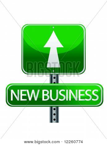 New business street sign
