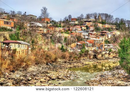 View of Kutaisi above the Rioni river in Georgia ** Note: Soft Focus at 100%, best at smaller sizes