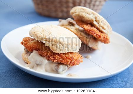 Chicken And Gravy Biscuit