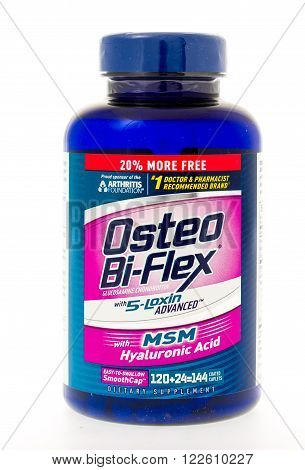 Winneconne, WI - 3 May 2015: Bottle of Osteo Bi-Flex used for joint pain.