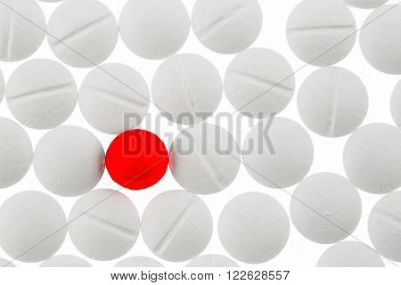 tablets in white and red