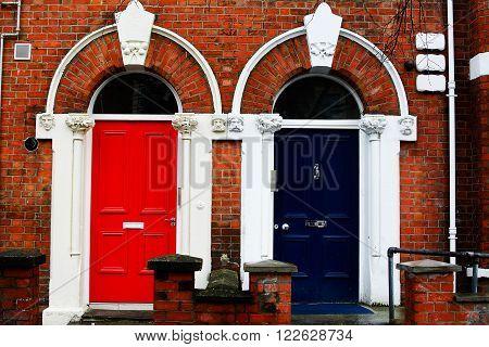 The colorured Doors in UK (United kingdom)