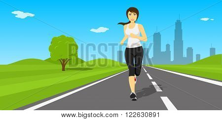 Outdor Running Woman