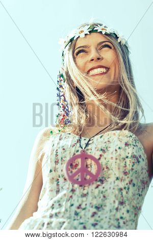 Hippie Girl With Smile