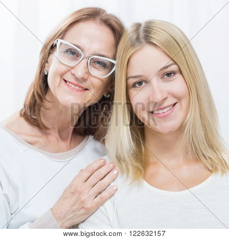 Supportive mother with he adult lovely daughter