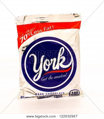 Winneconni WI - 16 June 2015: York peppermint patty candy bar