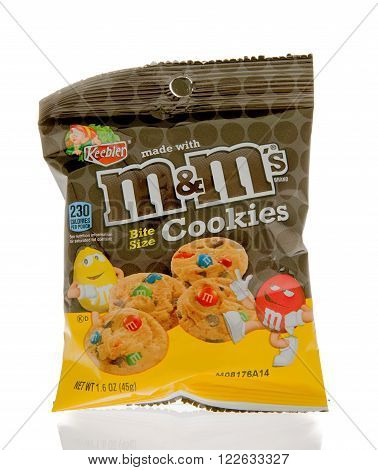Winneconne WI - 1 March 2016: A package of M&M's cookies made by Keebler