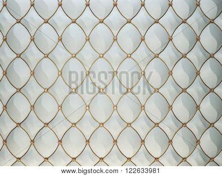 Luxury Grey Leather Background With Diamonds And Golden Wire