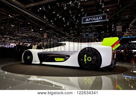 Geneva Switzerland - March 1 2016: 2016 Pininfarina H2 Speed Concept presented on the 86th Geneva Motor Show in the PalExpo