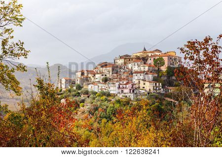 Colli al Volturno pictorial small village in Molise, Italy