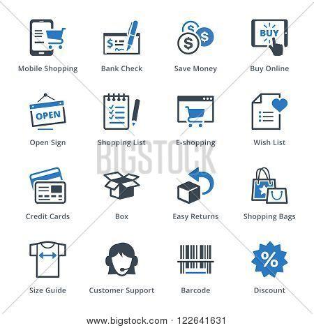 E-commerce Icons Set 3 - Blue Series