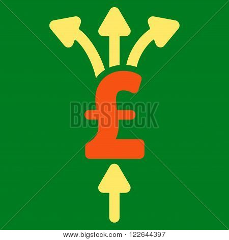 Divide Pound Payments vector icon. Divide Pound Payments icon symbol. Divide Pound Payments icon image. Divide Pound Payments icon picture. Divide Pound Payments pictogram.
