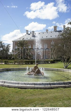 royal fountain of the goddess ceres parterre in the garden of the palace of Aranjuez in Spain