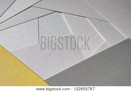 closeup image of paper texture variety group