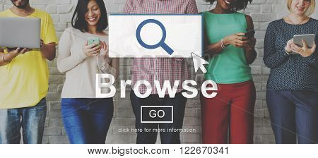 Browse Searching Finding Discover Search Browsing Concept