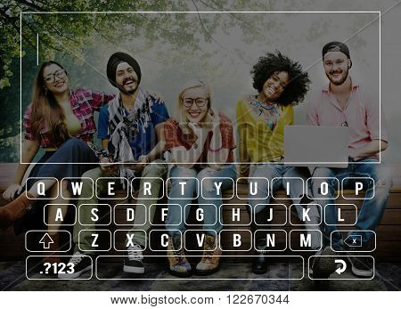Keyboard Connection Communication Online Searching Concept