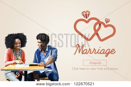 Marriage Love Wedding Heart Marry Concept