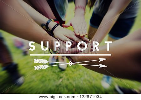 Support Helping Assistance Service Concept