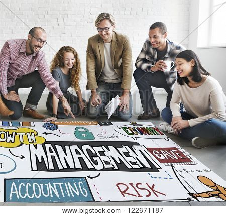 Management Growth Marketing Accounting Exchange Concept