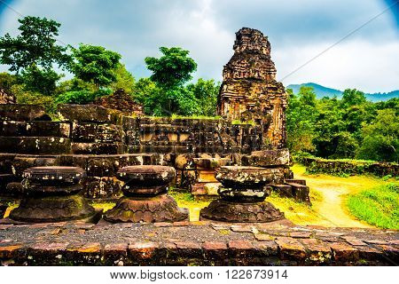 My Son, Ancient Hindu tamples of Cham culture in Vietnam near the cities of Hoi An and Da Nang.