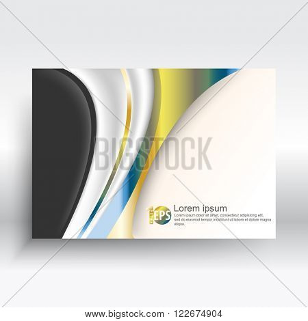 metallic wave shape elements corporate abstract design. eps10 vector